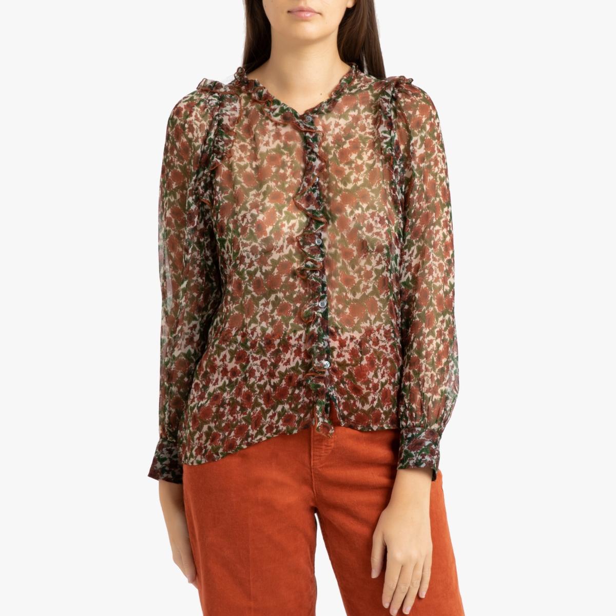 Рубашка La Redoute С радужным принтом с длинными рукавами HOUNA 40 (FR) - 46 (RUS) разноцветный