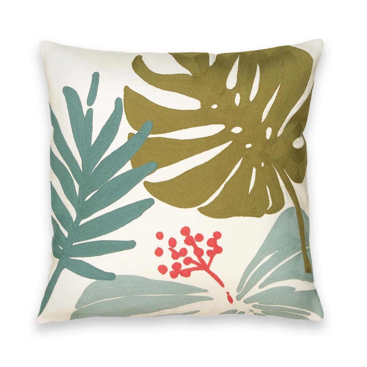 Чехол La Redoute На подушку с вышивкой BRAZILIA 45 x 45 см разноцветный цена