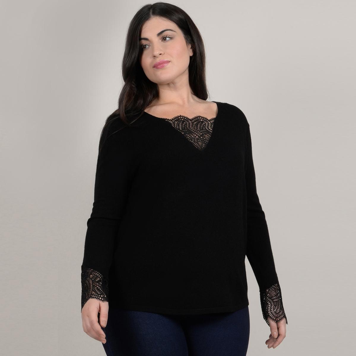 Пуловер из тонкого трикотажа с V-образным вырезом пуловер с v образным вырезом