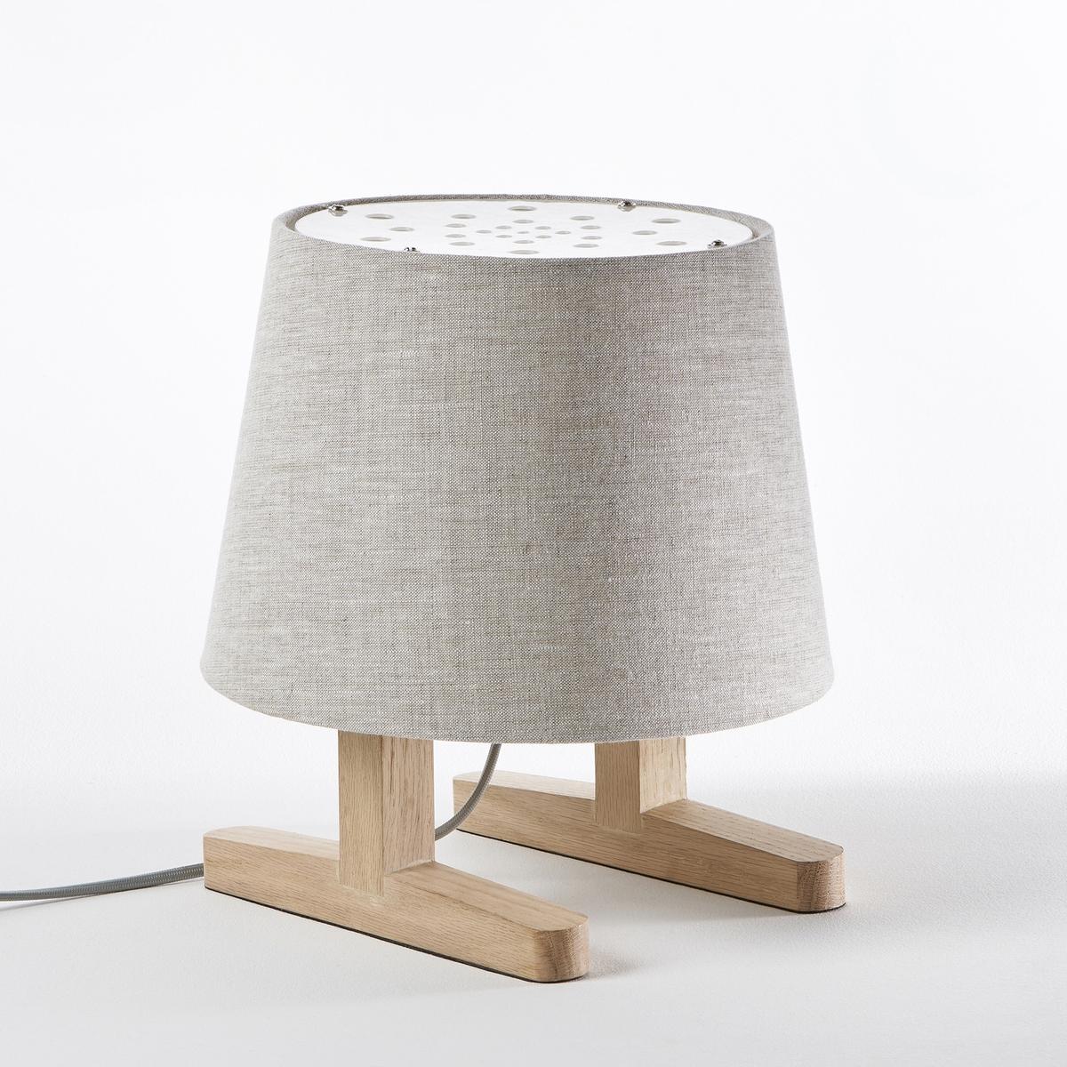 Лампа прикроватная Bernali, дизайн Э. ГаллиныПрикроватная лампа Bernali. Эксклюзивная разработка Эммануэля Галлины для AM.PM. Ножка с салазками и большой абажур, оригинальная и забавная настольная лампа!Дизайнер - Эммануэль Галлина. Элегантность, очевидность и простота - это его ключевые понятия. Для него важны детали, чтобы запечатлеть каждое мгновение в линиях, форме и функциональности .Задуманная и созданная для использования маленькими шалунами, эта лампа предназначена для детей. Эммануэль Галлина выбрал натуральные материалы, которые обеспечивают мягкую и безмятежную атмосферу. Благодаря форме в виде маленького человечка, эта прикроватная лампа создает игровую и теплую атмосферу.Характеристики : - Абажур из льна- Ножки из дуба с покрытием под натуральное дерево- Оборудована защитным экраном над лампочкой, чтобы ребенок не мог коснуться ее - Патрон G9 для лампы макс. 20 Вт (продается отдельно)- Совместима с лампами класса энергопотребления C-D-EРазмеры : - ? основания 40 см- макс. ? абажура 34 см- Общие размеры: ?40 x В.123 см.<br><br>Цвет: дуб/белый