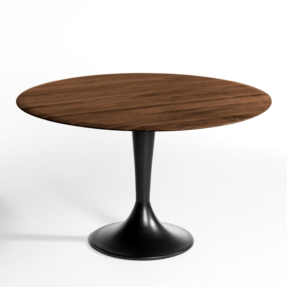 Столешница из массива орехового дерева, ?120 см, HisiaХарактеристики:- Столешница из массива орехового дерева с отделкой полиуретановым лаком.Размеры:- ?120 см, толщина 2 смРазмеры и вес упаковки:Ш.127 x В.9 x Г.127 см, 23 кг<br><br>Цвет: ореховый
