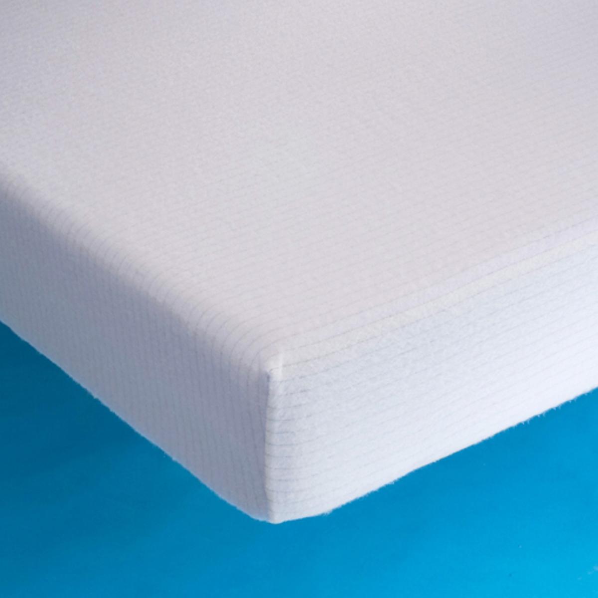 Чехол защитный для матраса из эластичного джерсиЗащитный чехол для матраса из эластичного джерси, легкий уход, комфортный и впитывающий, защищает Вашу постель от бактерий и клещей. Подстилка в форме чехла из эластичного джерси, 100% хлопок.Эластичный клапан 27 см. Машинная стирка при 60 °С для идеальной чистоты.Защитный чехол для матраса из эластичного джерси отмечен знаком VALEUR S?RE.<br><br>Цвет: белый