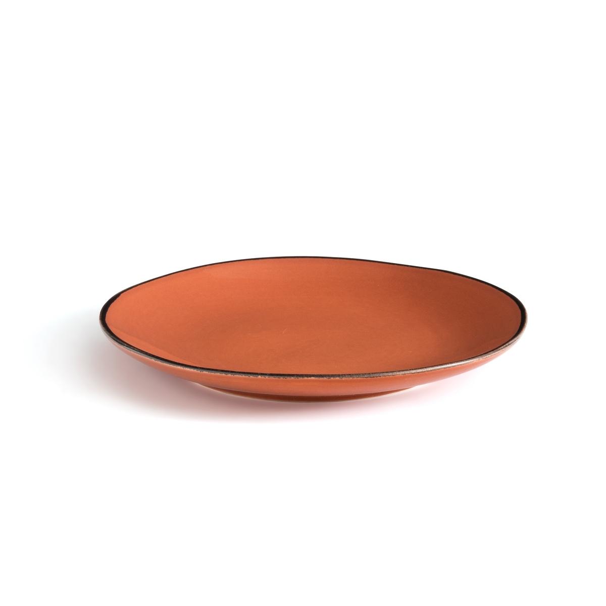 Комплект из десертных тарелок La Redoute Из фаянса Catalpin единый размер каштановый