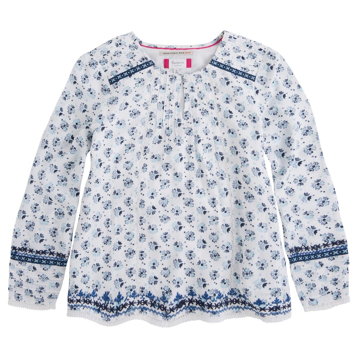Блузка с цветочным рисунком, 8-16 лет