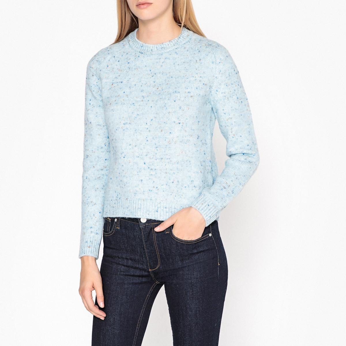 Пуловер с круглым вырезом из трикотажа в крапинку DOUDOU