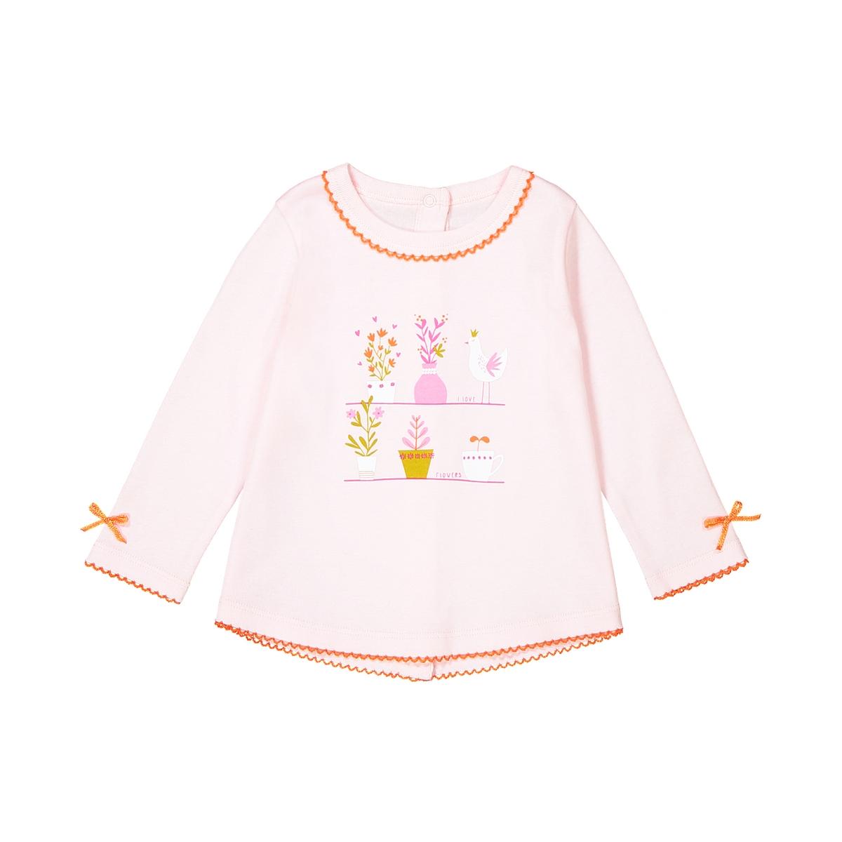 T-shirt maniche lunghe cotone da 0 a 3 anni Oeko Tex
