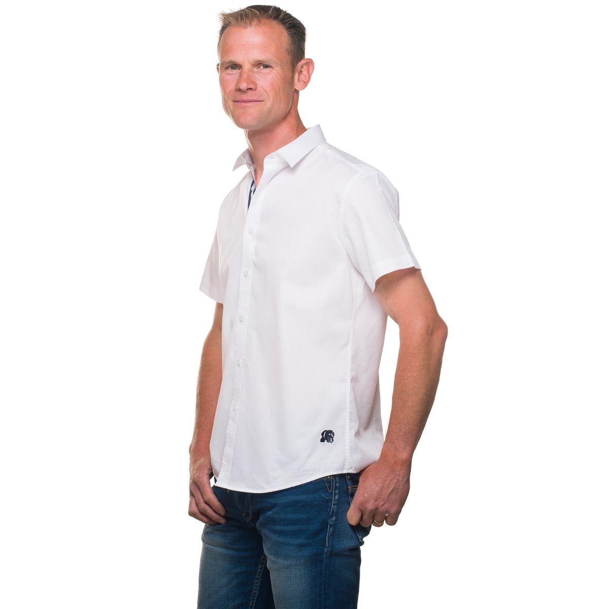 Chemise homme unie coton manches courtes