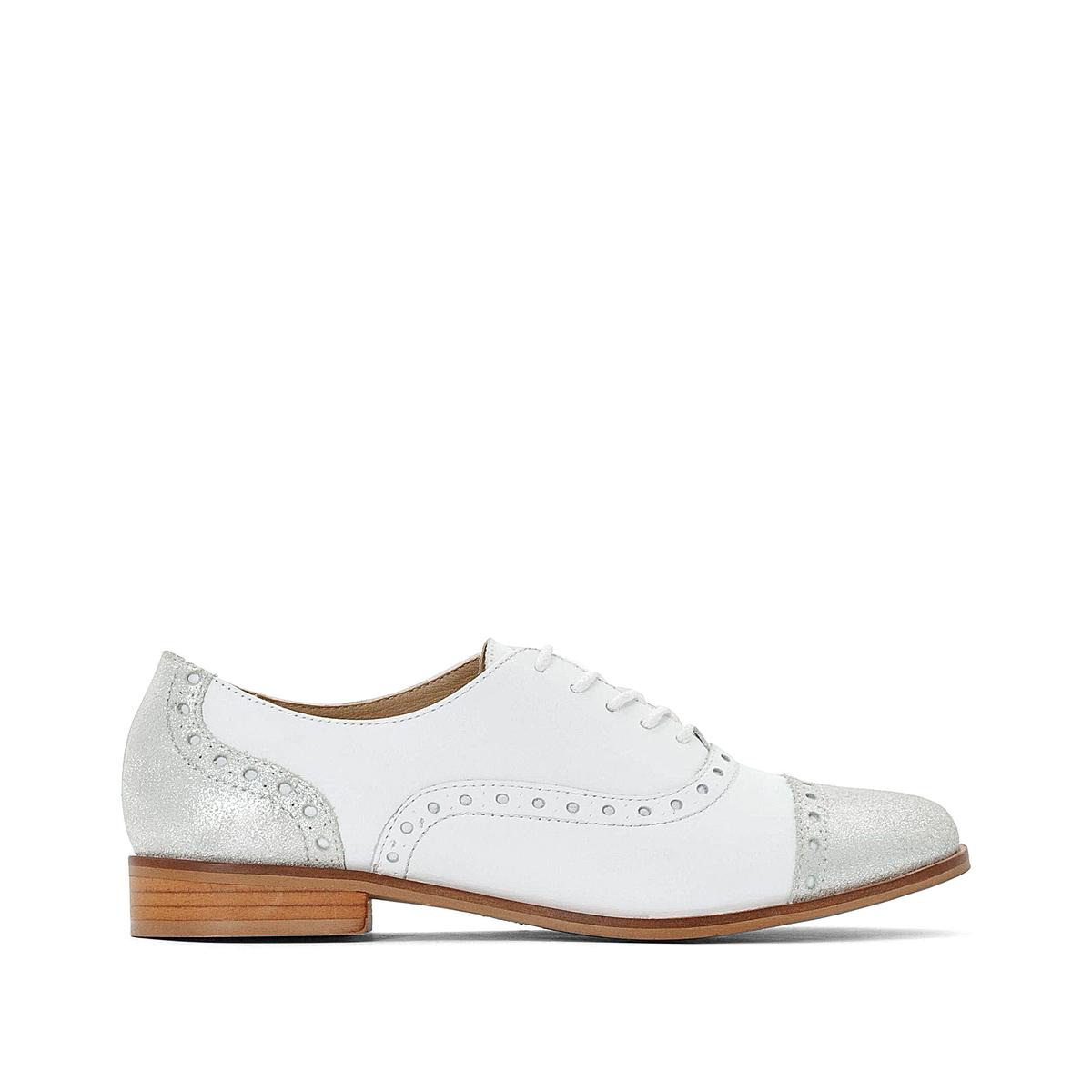 Ботинки-дерби La Redoute Кожаные 41 белый кеды la redoute низкие кожаные nicky 41 белый