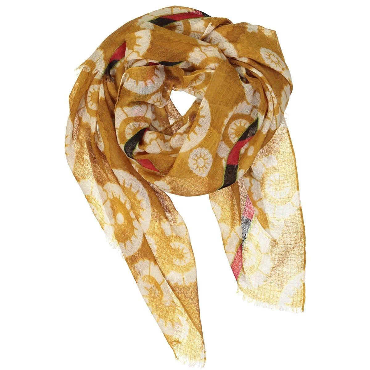 Foulard en étamine de laine texturée - OUZBECK FLOWER