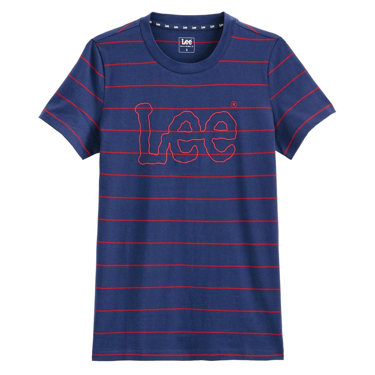 Imagen principal de producto de Camiseta con cuello redondo Striped Teel - Lee