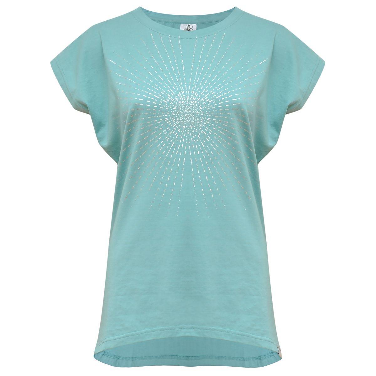 Yoga-T-Shirt  Batwing sunray  - mint/silver Türkis