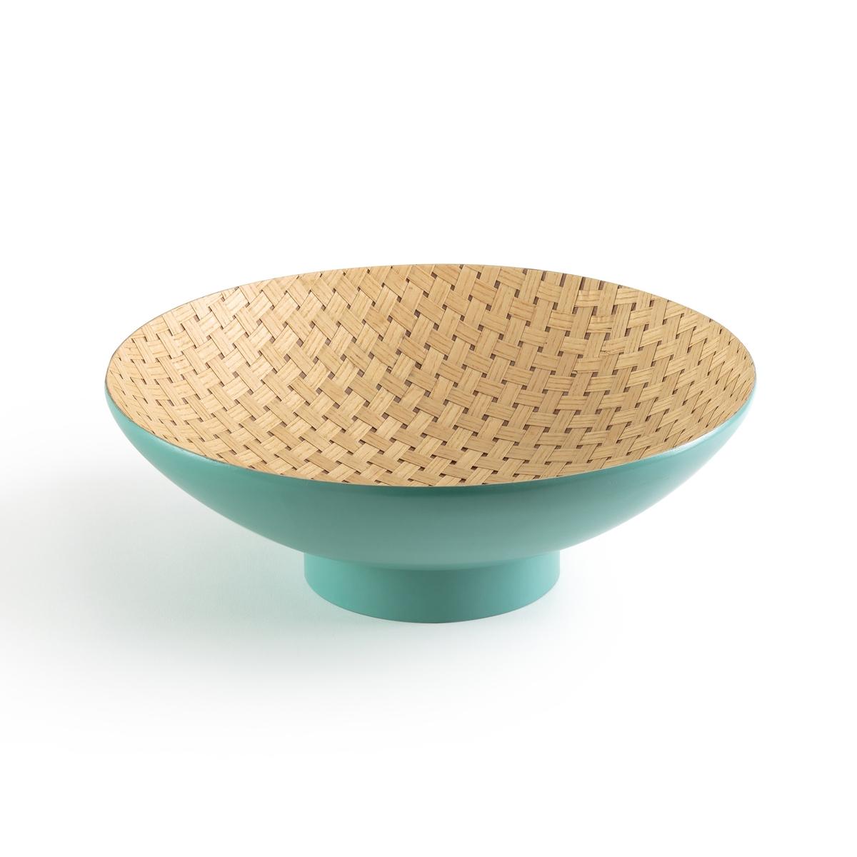 Чаша круглая для фруктов из натурального бамбука MAWE la casa sulla scogliera livello due b1 cd