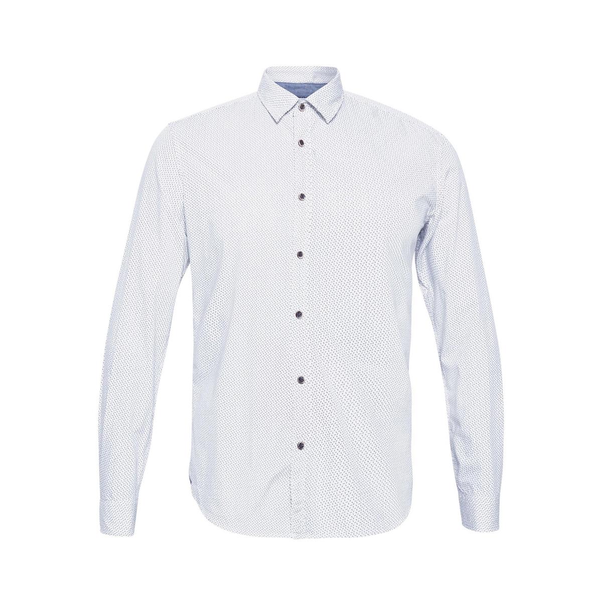 Camisa slim, manga larga