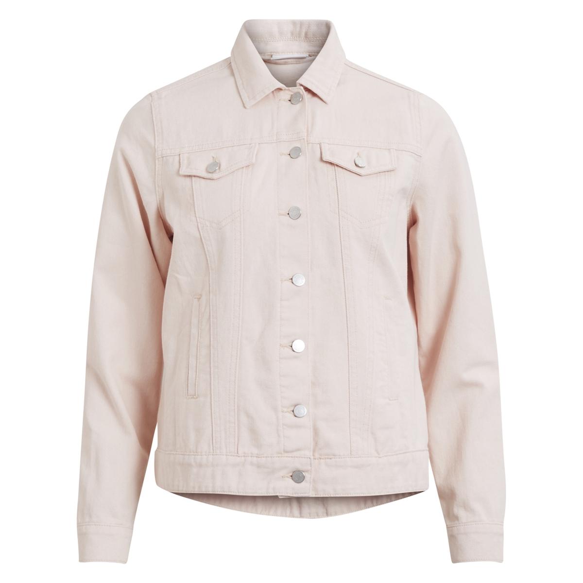 Жакет джинсовый прямого покрояОписание:Детали • Джинсовая ткань •  Прямой покрой •  Воротник-поло, рубашечныйСостав и уход •  100% хлопок •  Следуйте рекомендациям по уходу, указанным на этикетке изделия<br><br>Цвет: розовая пудра