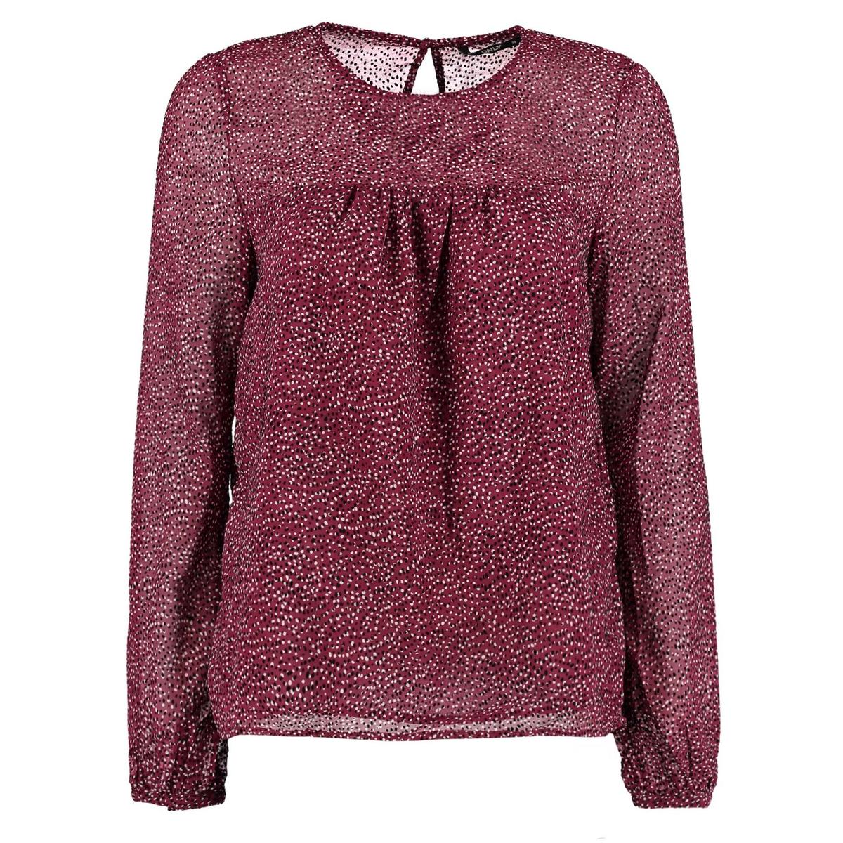 Блуза с круглым вырезом в горошек, длинные рукава блуза rosanna pellegrini блузы в горошек