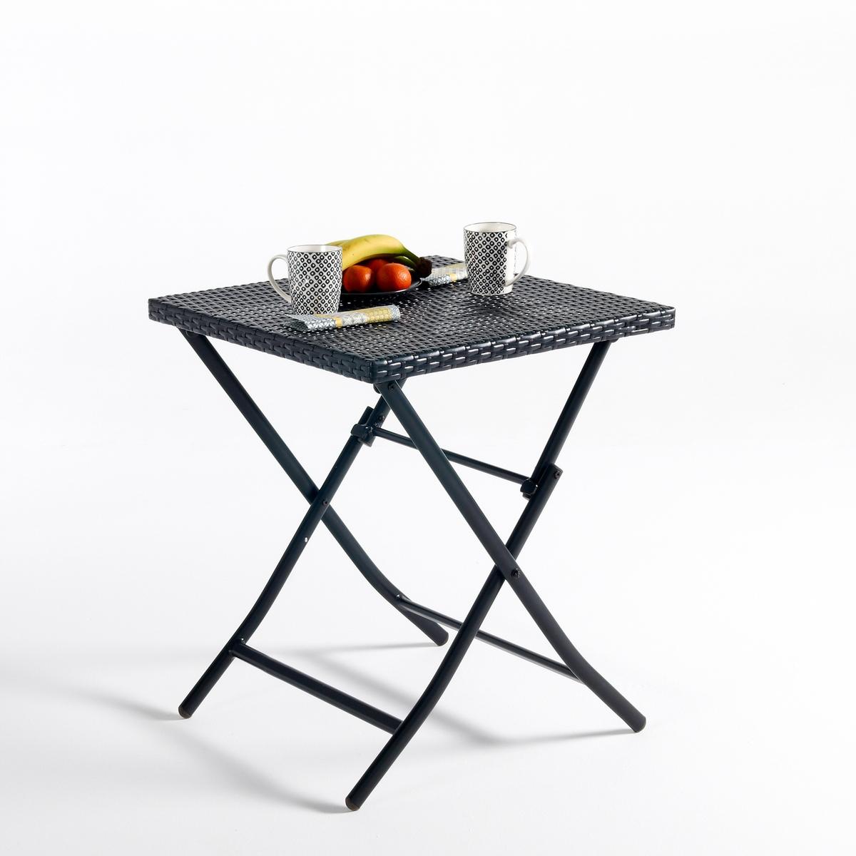Стол складной MoonbazaСкладной стол Moonbaza. Замечательный стол в этническом стиле с плетением.Описание складного стола Moonbaza :Каркас и ножки из алюминия черного цветаСтолешница из плетеного полимераХарактеристики плетеного стола Moonbaza:Складной столСтолешница из плетеного полимераВсю коллекцию Moonbaza вы можете найти на сайте laredoute.ruРазмеры складного стола Moonbaza:Общие размеры:Длина : 60 смВысота : 60 смГлубина : 71 смРазмеры и вес с упаковкой :1 упаковкаШ.91 x В.19 x Г.65 см, 6,95 кгДоставка:Товар продается в собранном виде.Возможна доставка до двери по предварительной договоренности.Внимание! Убедитесь, что возможно осуществить доставку товара, учитывая его габариты (проходит в дверные проемы, лестничные проходы, лифты).<br><br>Цвет: черный