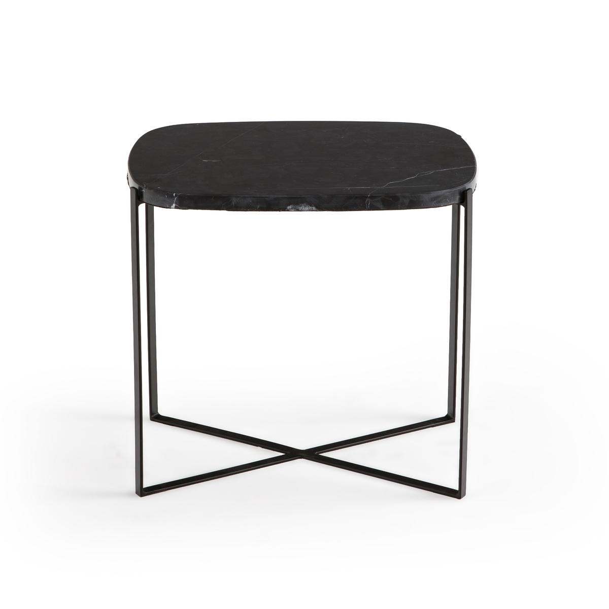 Столик LaRedoute Диванный органической формы из мрамора Arambol единый размер черный