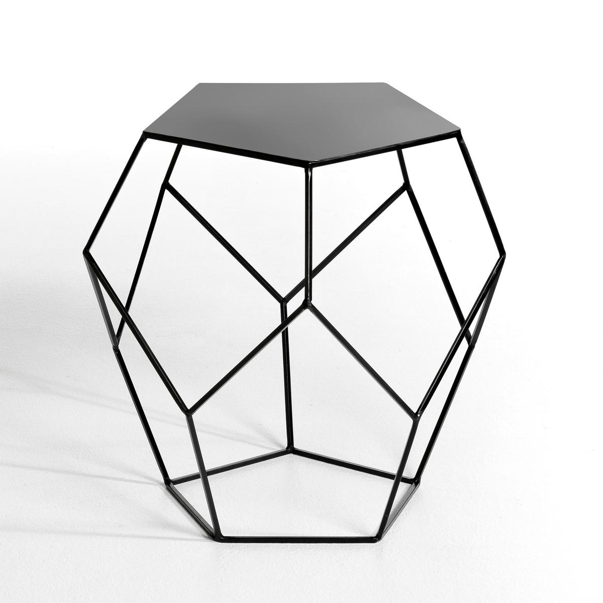 Столик диванный, RozamДиванный столик Rozam. Легкий и графический дизайн...  Характеристики :- Из стали.- Столешница расположена на геометрической конструкции из проволоки .Размеры: - диаметр 45 x высота 46 см.<br><br>Цвет: черный<br>Размер: единый размер