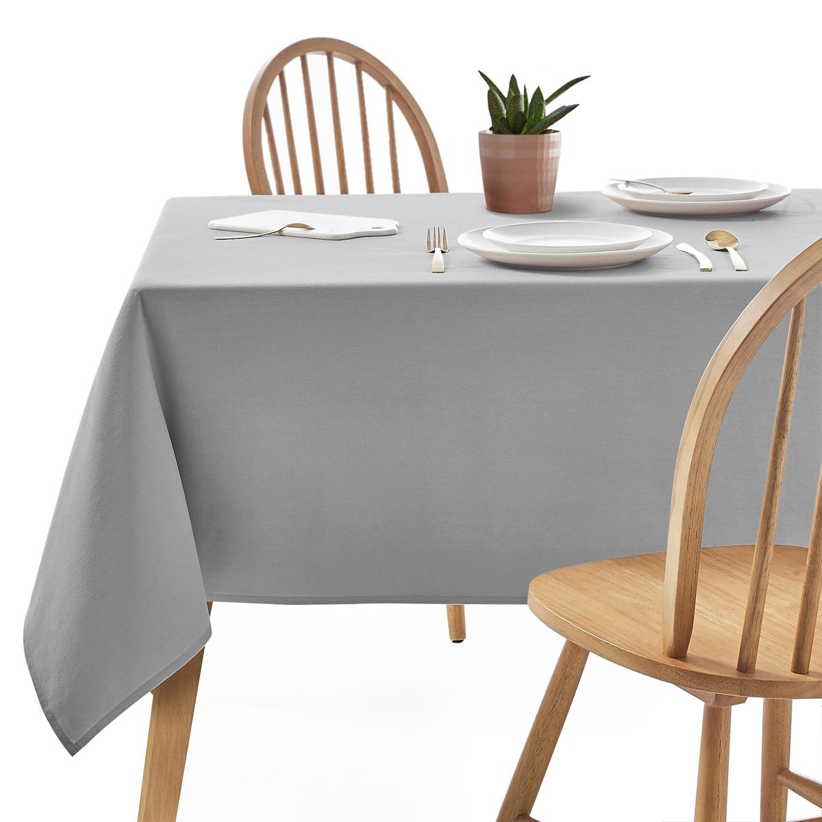 Однотонная LaRedoute Скатерть из полиэстера Scenario 150 x 150 см серый скатерть столовая iv63250 150 200
