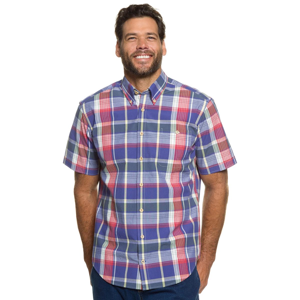 Рубашка в клеткуРубашка в клетку JP1880 с короткими рукавами и нагрудным карманом. Современный слегка приталенный покрой. Рубашку можно носить навыпуск. 100% хлопок. Длина в зависимости от размера. 78-94 см<br><br>Цвет: в клетку