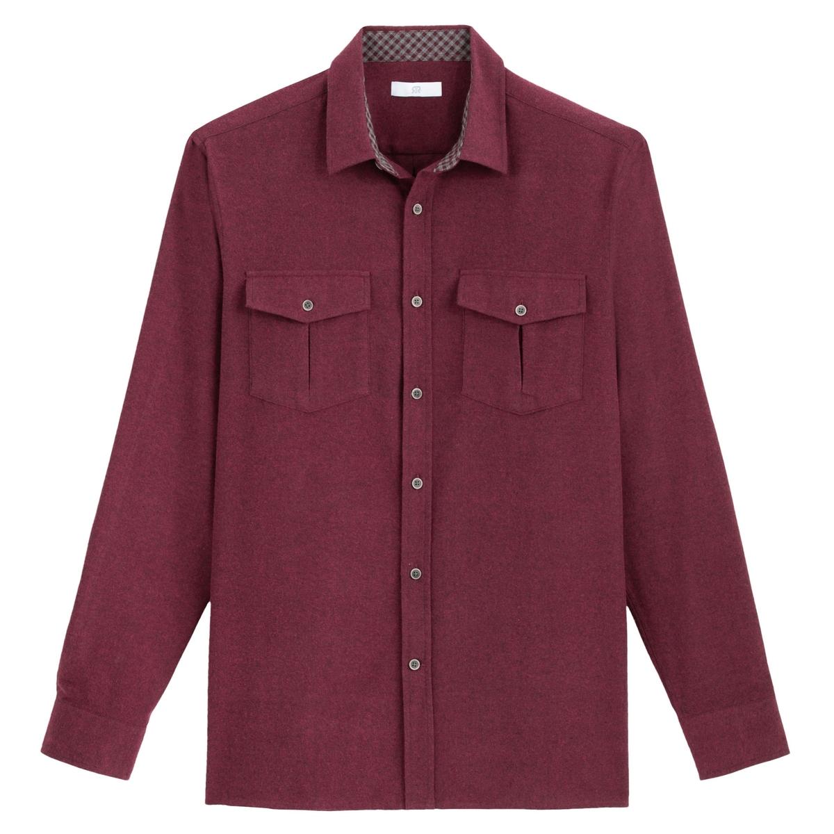 Camisa recta de franela