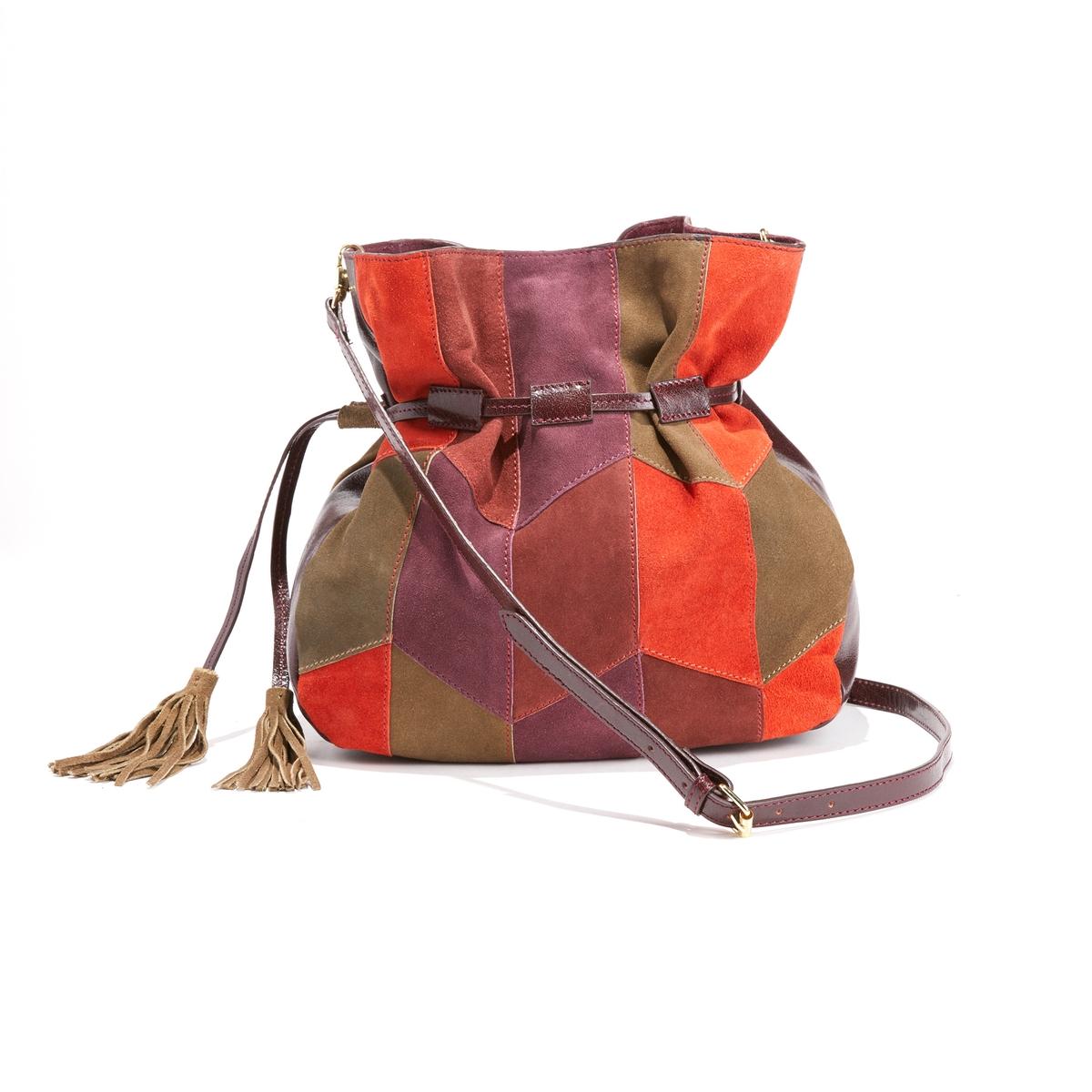 Сумка-мешок из пестрой кожаной ткани ISHA от La Redoute