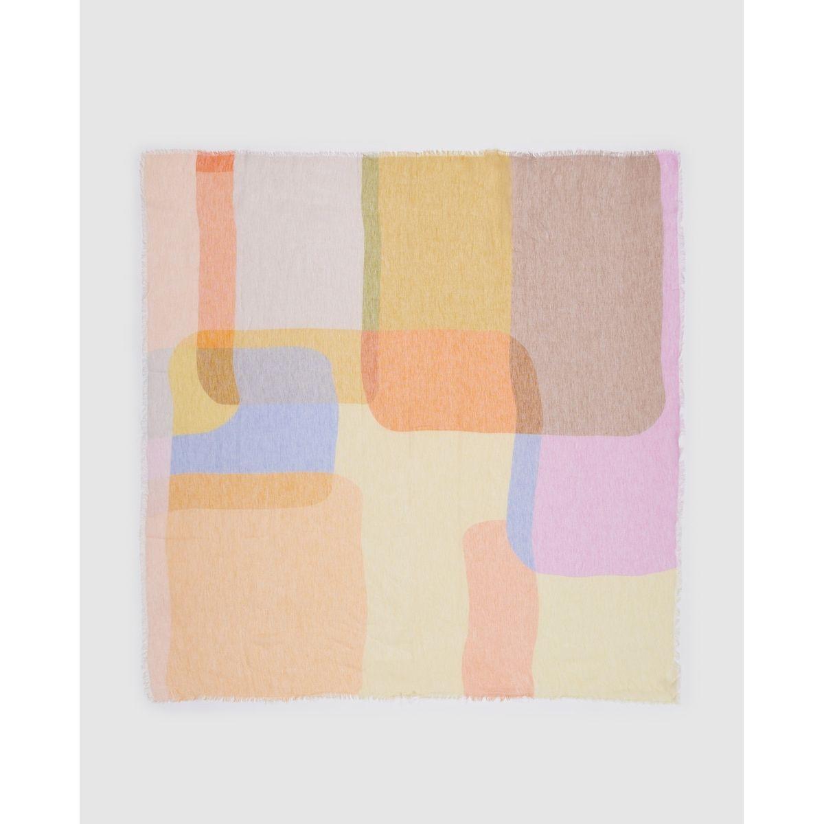 Foulard à imprimé color block