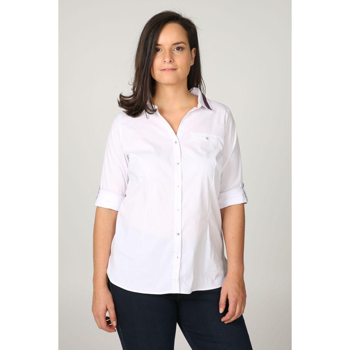 Chemisier détails bandes sportswear Col polo, chemise Manches longues