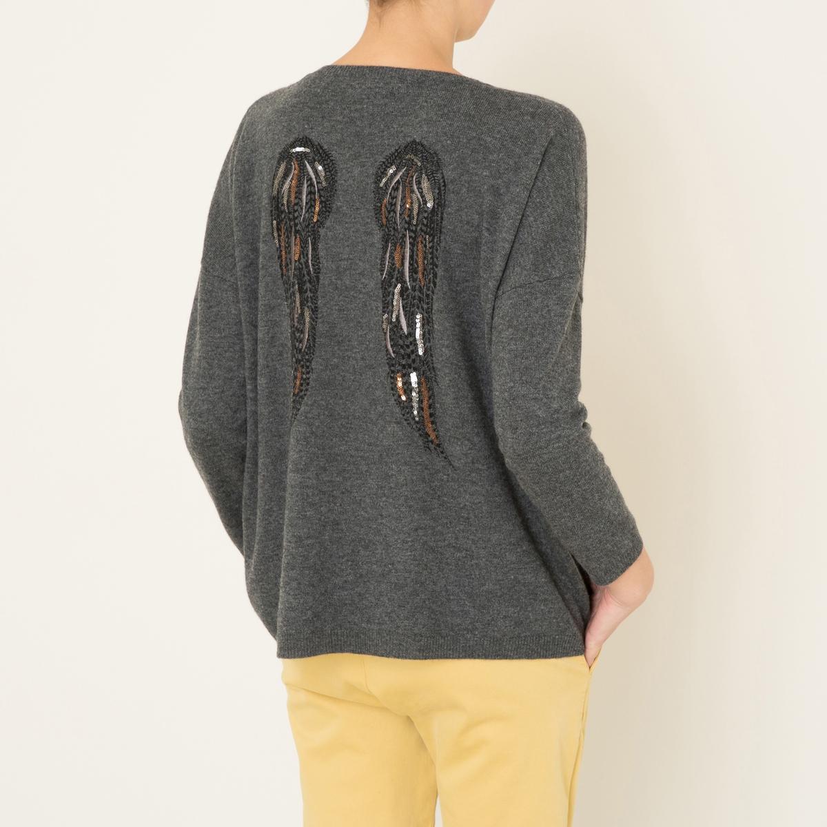 Пуловер INESСостав и описание :Материал : меланжевый трикотаж 90% шерсти, 10% кашемираМарка : BERENICE<br><br>Цвет: антрацит