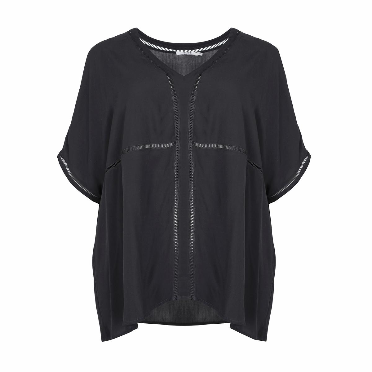 Блузка<br><br>Цвет: черный<br>Размер: 44/48.50/54