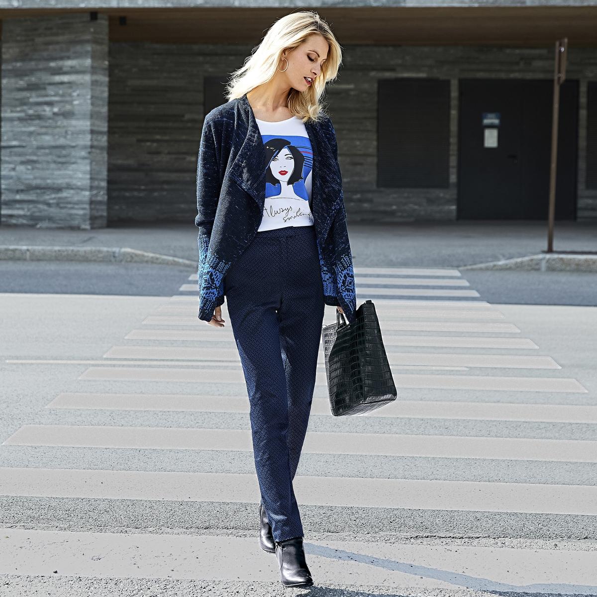 Imagen secundaria de producto de Camiseta con cuello redondo estampada delante, de manga larga - Anne weyburn