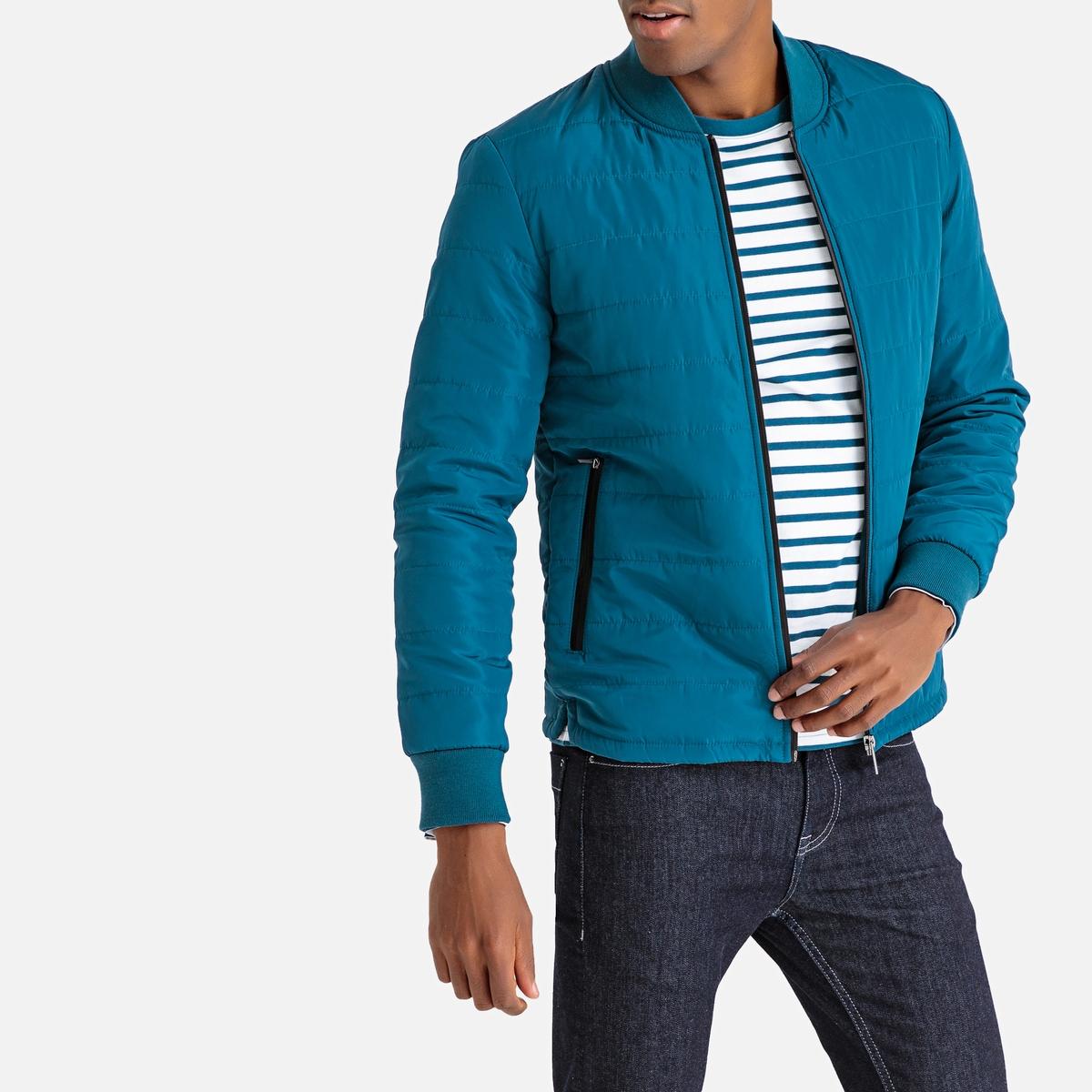Куртка стеганая короткая с воротником-кадетом, демисезонная модель