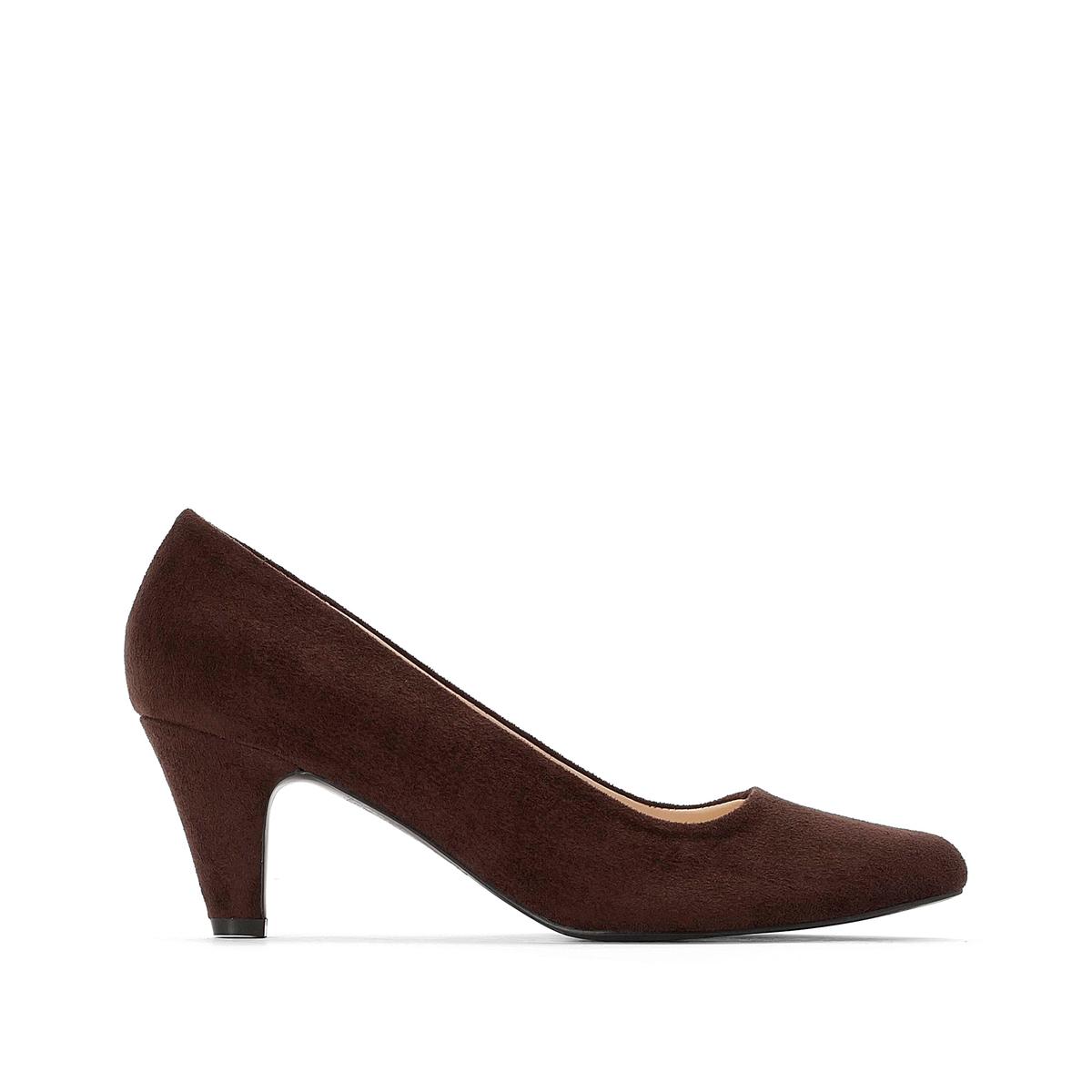 Туфли La Redoute На среднем каблуке 38 каштановый туфли indiana туфли на среднем каблуке