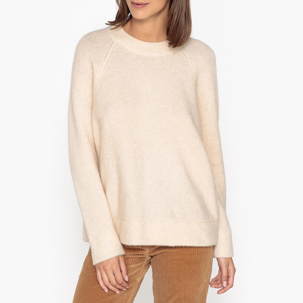 Пуловер с круглым вырезом из тонкого трикотажа пуловер scotch