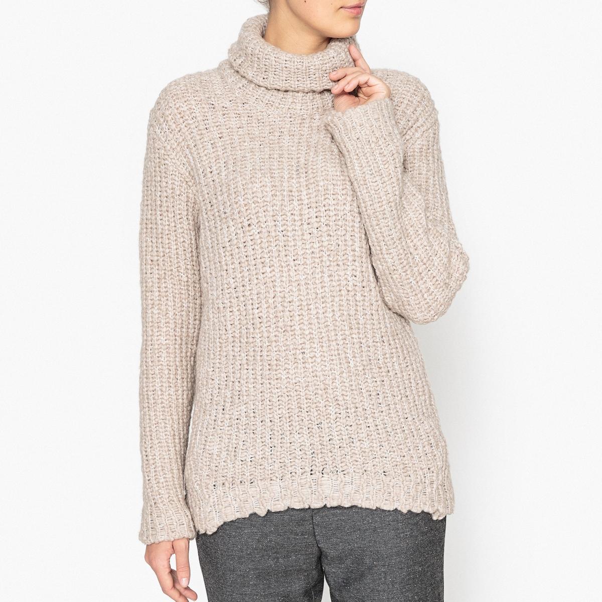 Пуловер с воротником с отворотом BERGMAN пуловер свободный с воротником с отворотом plunkett