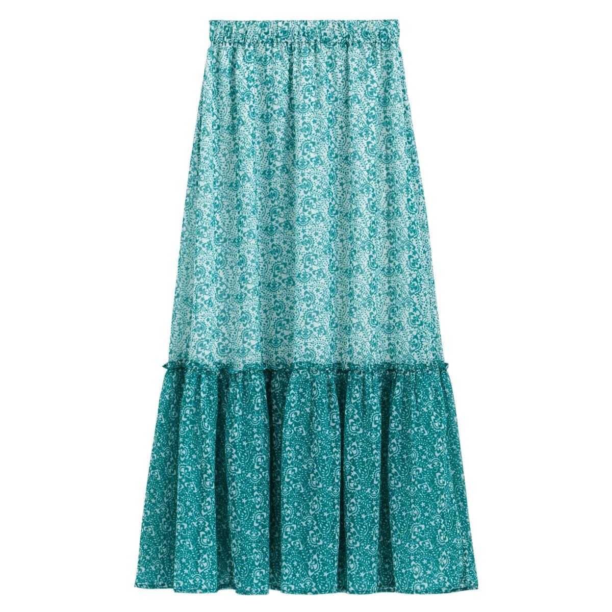 Falda maxi con estampado de flores