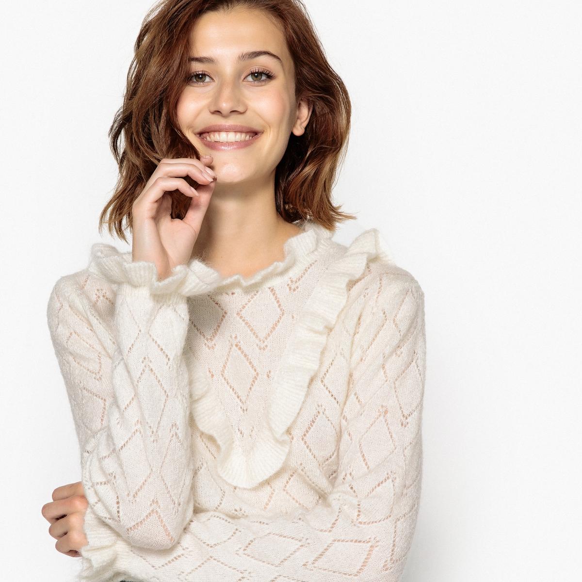 Пуловер с круглым вырезом из плотного трикотажа пуловер с круглым вырезом из плотного трикотажа recife