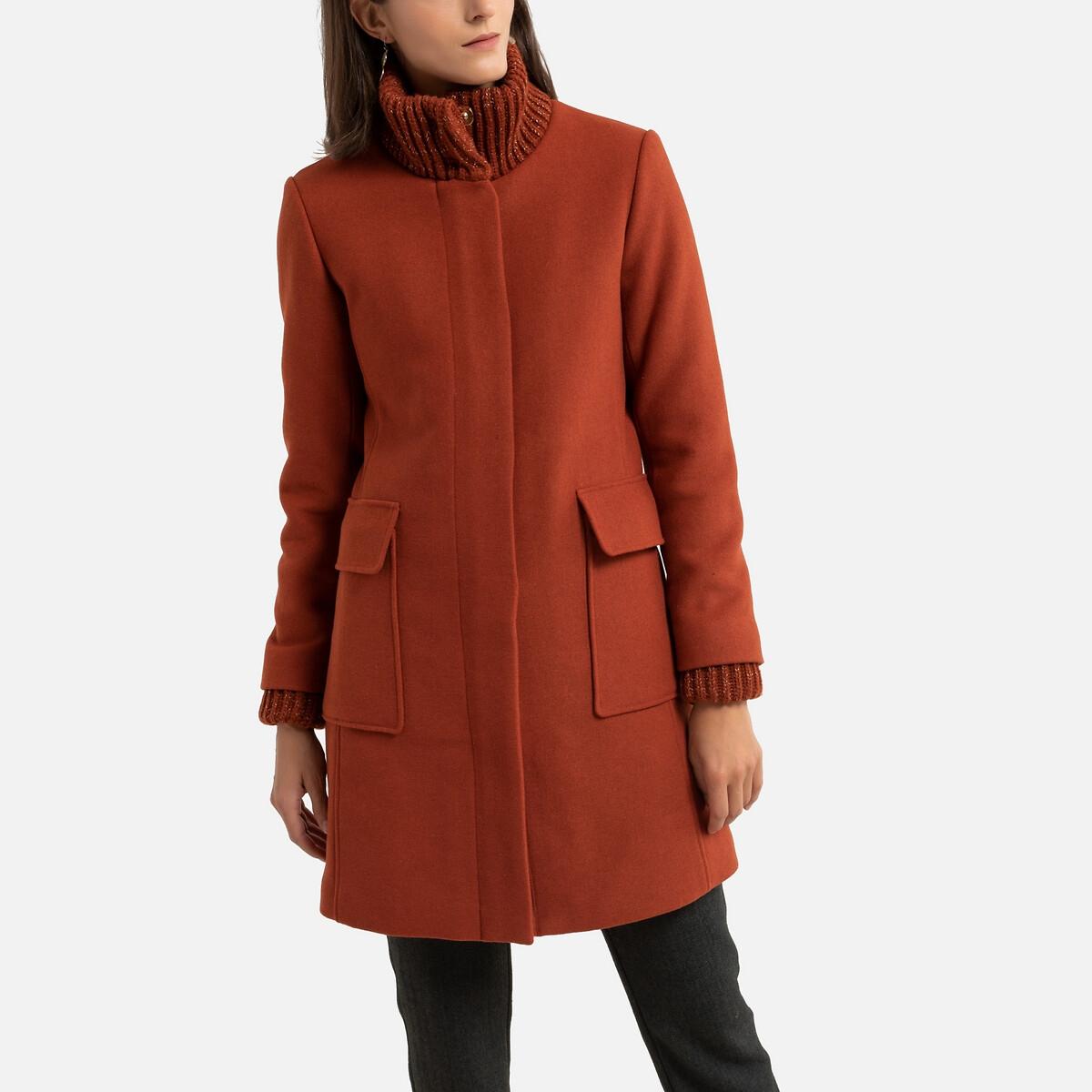 Manteau mi-long fermeture zippée