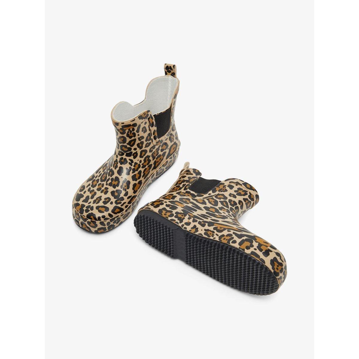 Bottes en caoutchouc imprimé léopard