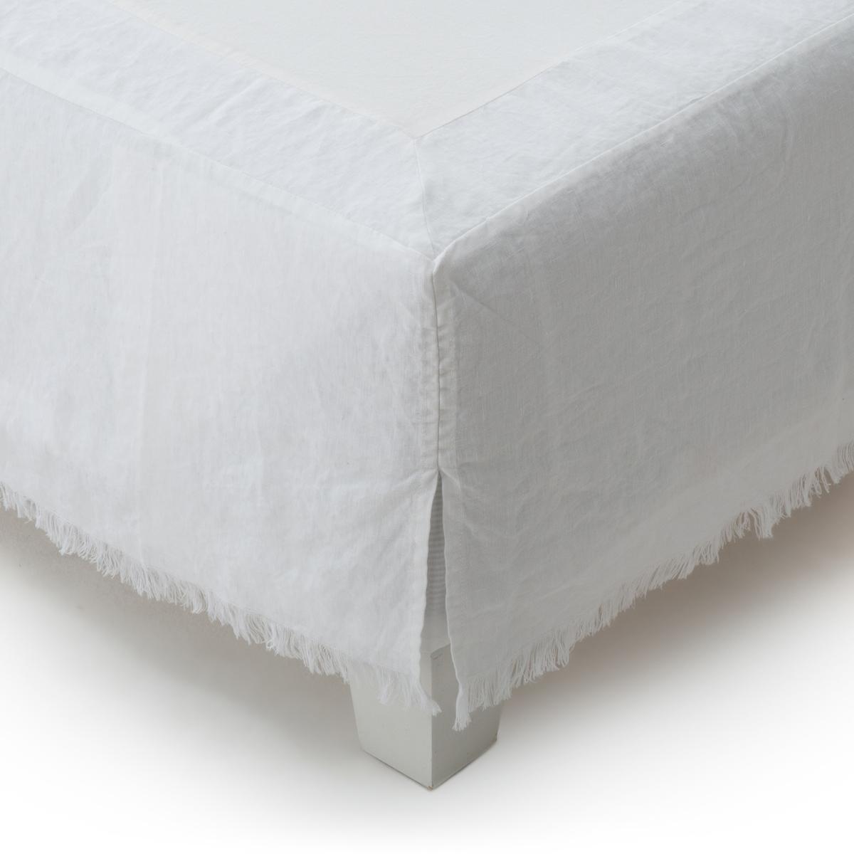 Чехол La Redoute На основание кровати из 100 осветленного льна Amourya 160 x 200 см белый