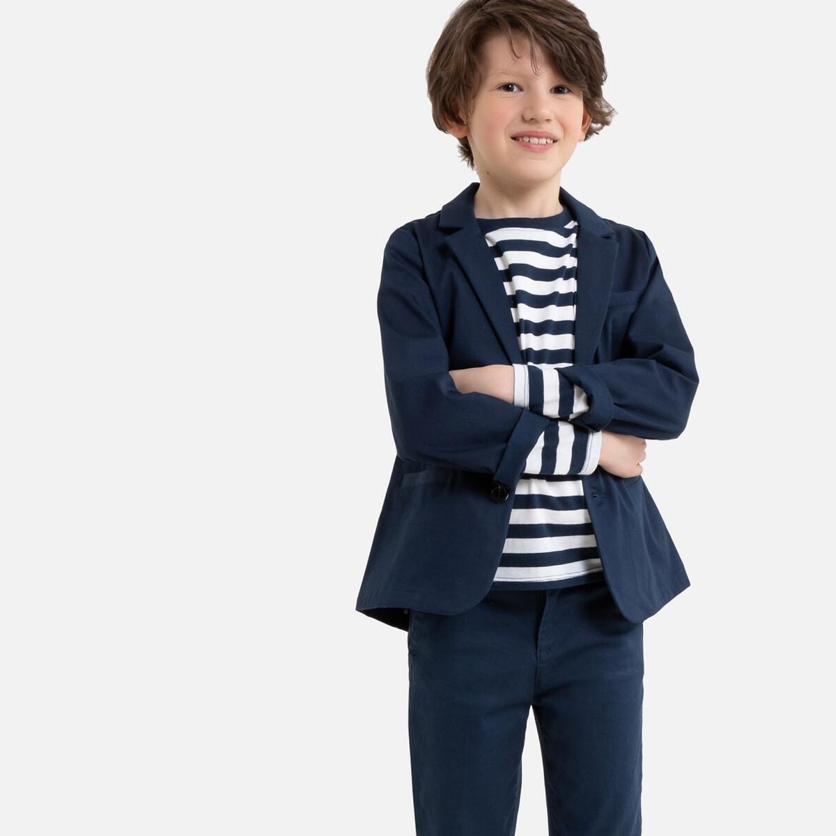Пиджак-блейзер La Redoute Для торжества 6 лет - 114 см синий полосатые la redoute шорты от до лет 6 лет 114 см синий
