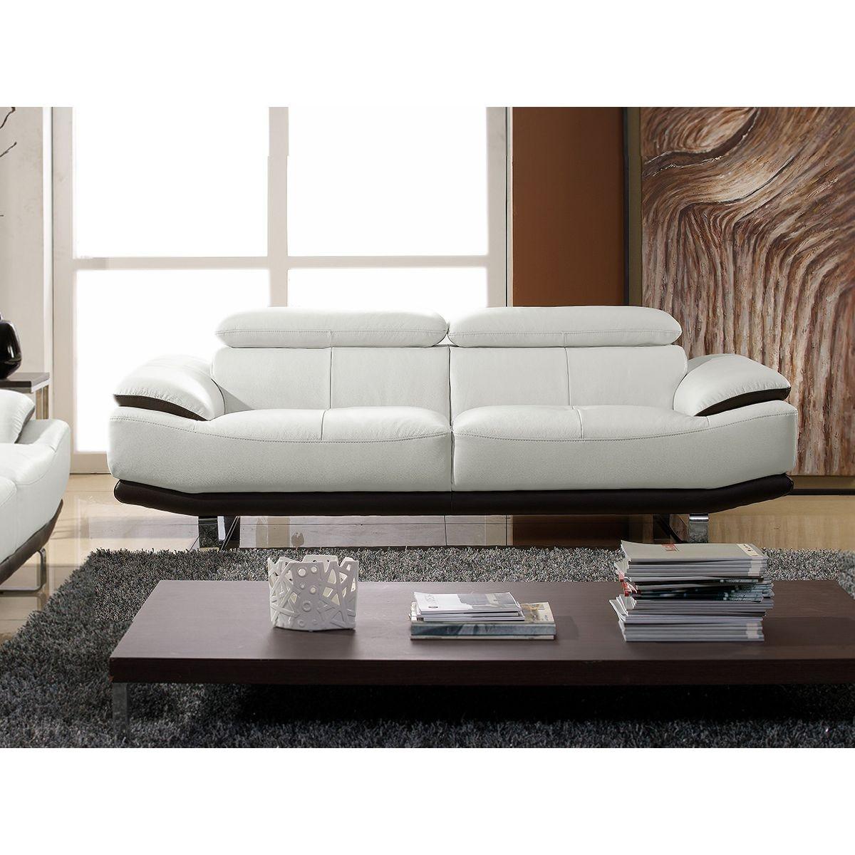 Canapé en cuir 3 places OSMOZ