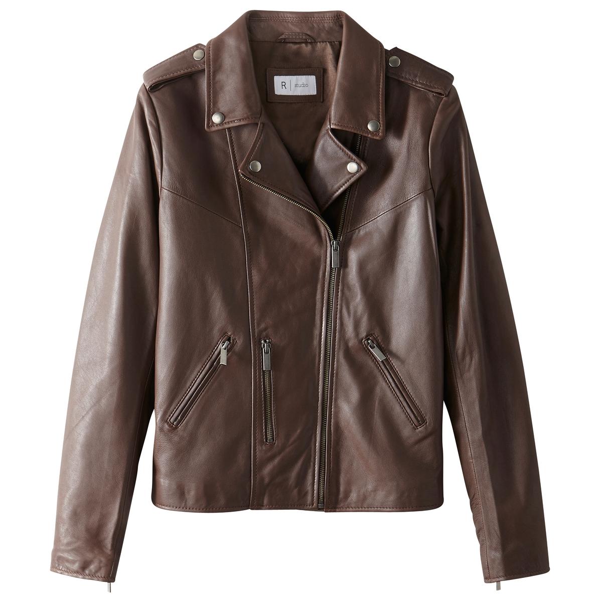 Блузон кожаный в байкерском стиле блузон кожаный в байкерском стиле