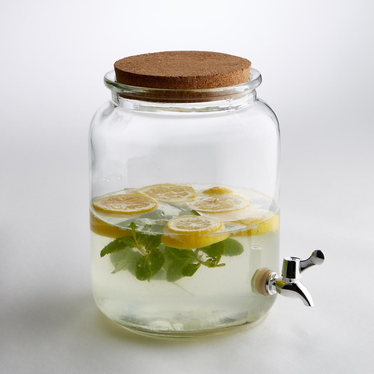 Сосуд для напитков из прозрачного стекла, размер SКлассическая форма, съемный кран, закрывается крышкой из пробки, этот стеклянный сосуд отлично подходит для содержания и разливания различных соков и напитков. Характеристики сосуда из прозрачного стекла, размер S :Объем 850 сл.Размеры сосуда из прозрачного стекла, размер S :Диаметр. 22 x высота 30 см Другие сосуды и предметы декора стола вы можете найти на сайте laredoute.ru<br><br>Цвет: белый прозрачный<br>Размер: единый размер