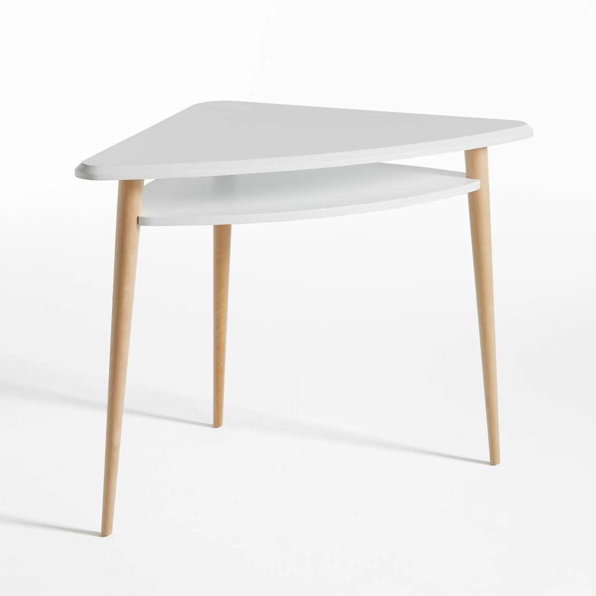 Стол письменный угловой JIMIУгловой письменный стол JIMI. Угловой или обычный письменный стол в скандинавском стиле идеальных пропорций. Классическая и утонченная модель украсит комнату или гостиную.                                                    Описание письменного стола JIMI  :  2 столешницы.    Характеристики стола JIMI :  Столешницы из МДФ с лаковым полиуретановым покрытием   Ножки из массива березы с лаковым нитроцеллюлозным покрытием.    Всю коллекцию JIMI Вы найдете на сайте laredoute.ru    Размеры стола JIMI :  Общие :  Длина : 75,4 см  Высота : 75 см  Глубина : 75,4 см    Размер и вес с упаковкой :  1 упаковка  Ш.98 x В.84,5 x Г.11 см  16 кг     Доставка :  Угловой письменный стол JIMI поставляется в разобранном виде. Доставка будет осуществлена до квартиры по предварительной договоренности !  Внимание ! Убедитесь, что дверные, лестничные и лифтовые проемы позволяют осущетвить доставку коробки/ок таких габаритов.<br><br>Цвет: белый