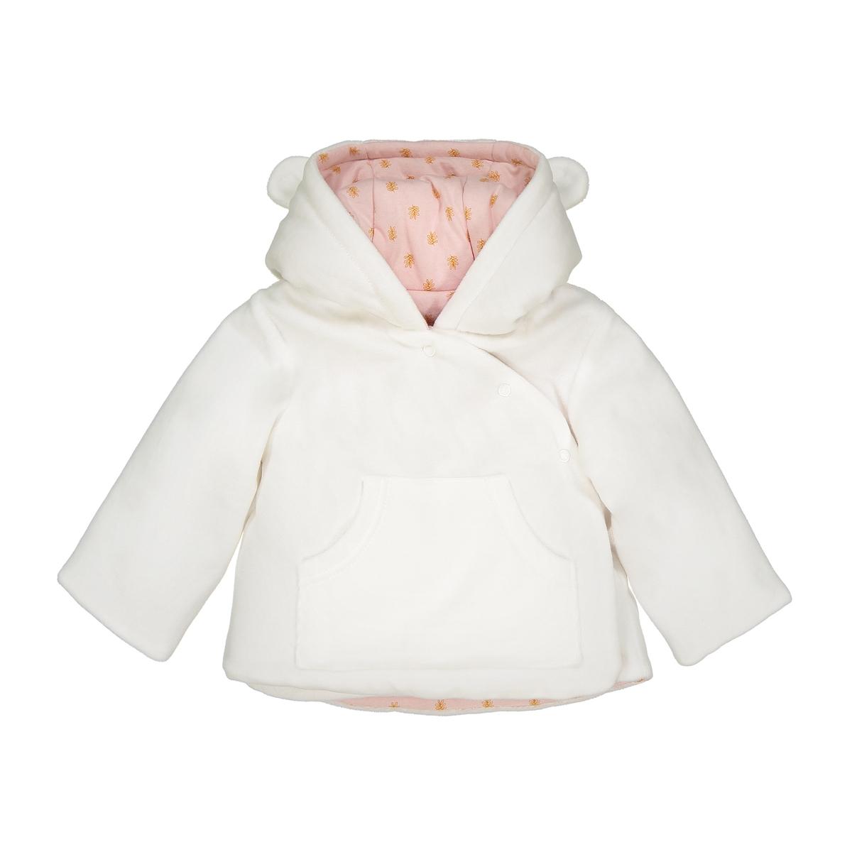 Кардиган La Redoute Для новорожденных с капюшоном из велюра мес - года 18 мес. - 81 см бежевый пижамы la redoute из велюра мес года 0 мес 50 см синий