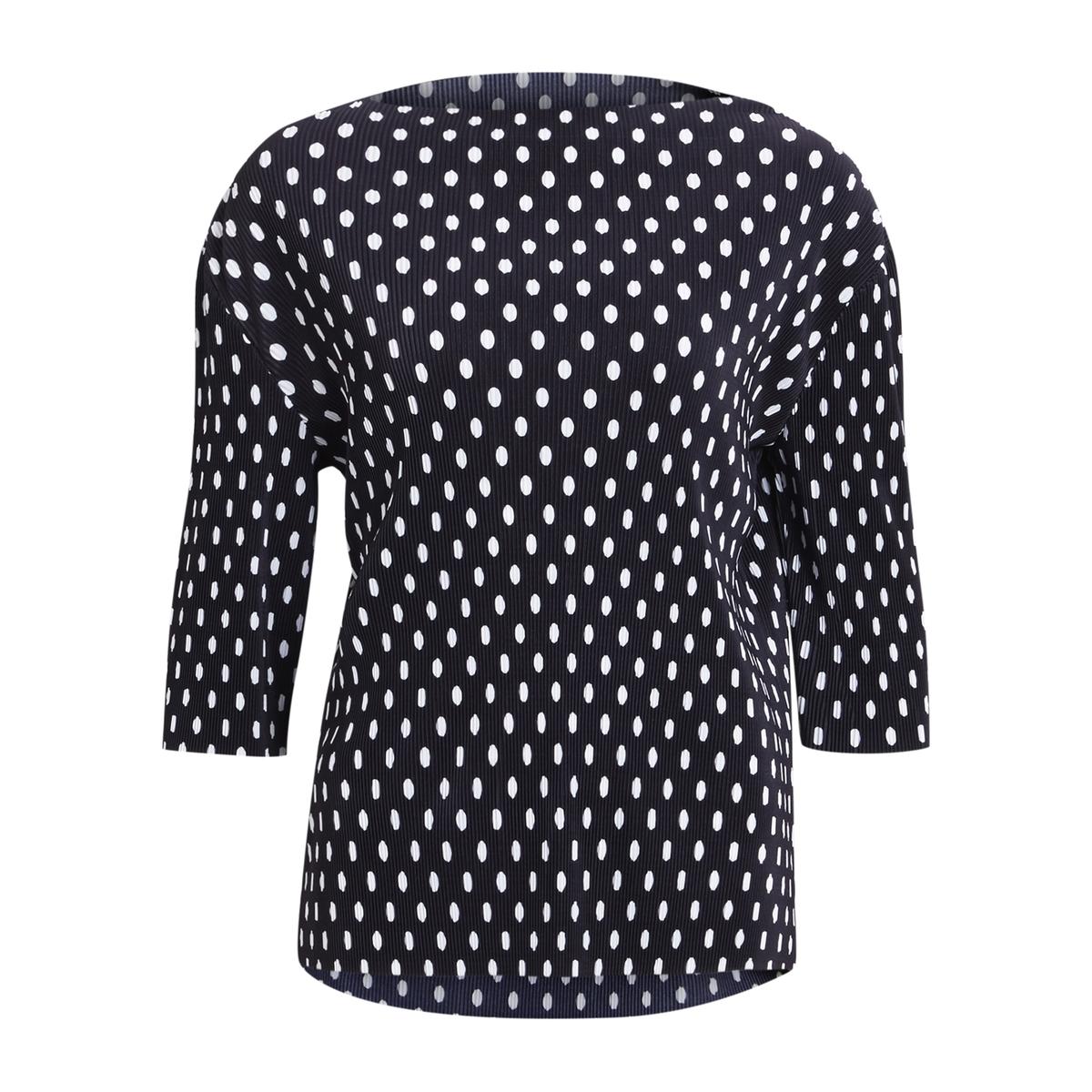 Блузка в горох с рукавами 3/4Детали •  Рукава 3/4 •  Без воротника •  Рисунок в горошекСостав и уход •  100% полиэстер •  Следуйте советам по уходу, указанным на этикетке<br><br>Цвет: в горошек/фон темно-синий<br>Размер: XL