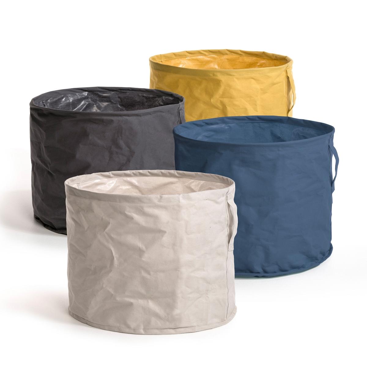 Корзина для хранения вещей, LibraКорзина для хранения вещей Libra . Корзина для хранения с жестким каркасом идеально подходит для игрушек, белья и других вещей. Представлена в 4 цветах и впишется в любую обстановку. Пропитка, 100% хлопка. Вертикальная прошитая ручка. Общие размеры. 40 x 50 см.<br><br>Цвет: желтый,синий,темно-серый<br>Размер: единый размер