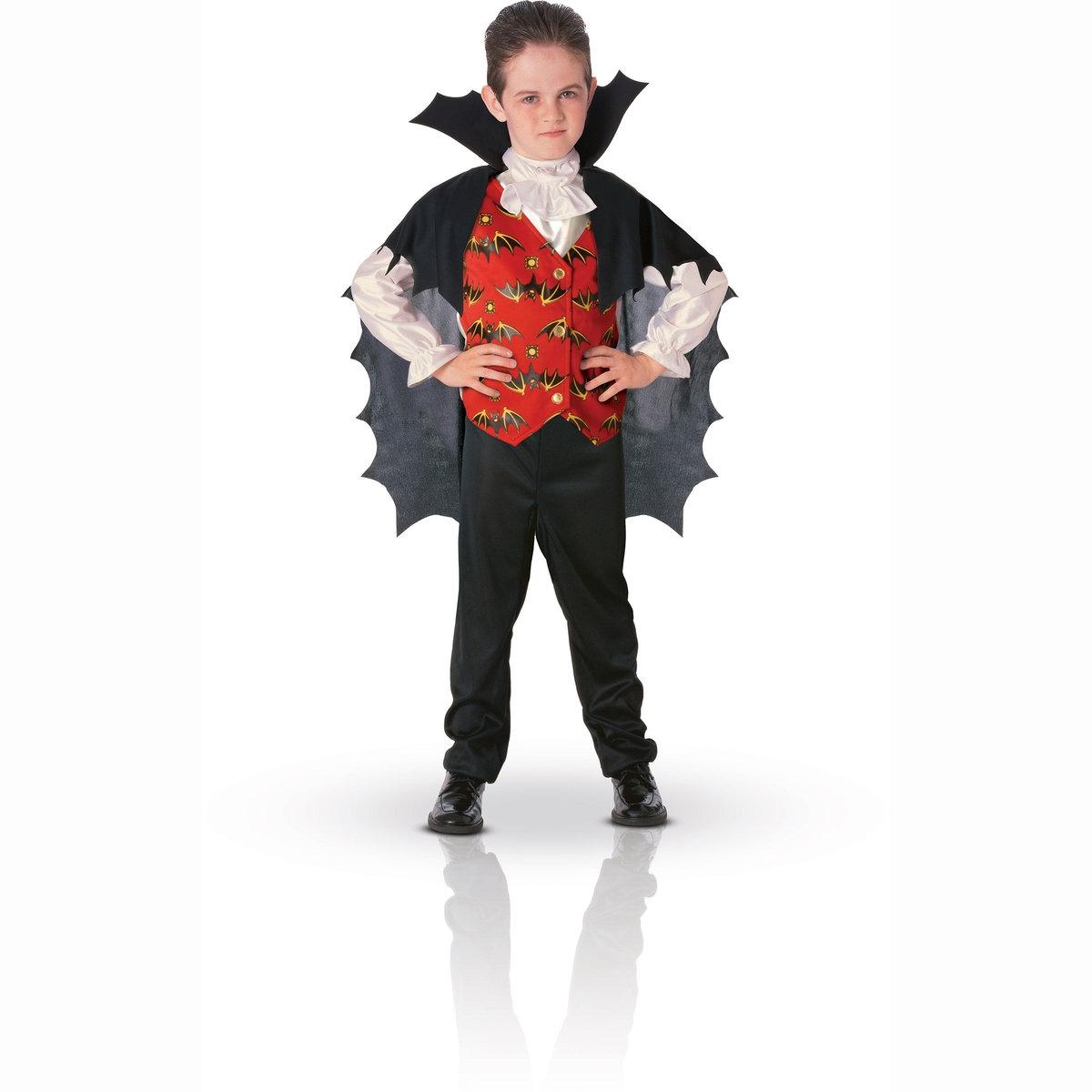 Маскарадный костюм вампираМаскарадный костюм вампира. Верх имитация рубашки,состоящей из 3 предметов, с крыльями летучей мыши на спине. 100% полиэстера.    S: соответствует размеру на  3-4 года. M : соответствует размеру на 5-6 лет. L: соответствует размеру на 7-8 лет<br><br>Цвет: набивной рисунок<br>Размер: M.L