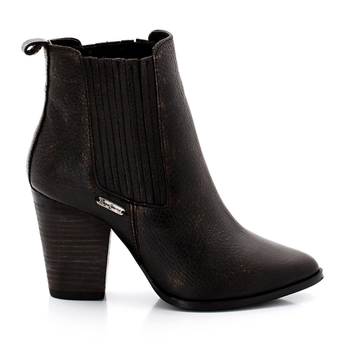 Ботильоны PEPE JEANSНеоспоримые плюсы: ботинки челси на каблуке, всегда подчеркивающие женственный стиль .<br><br>Цвет: бронзовый<br>Размер: 40